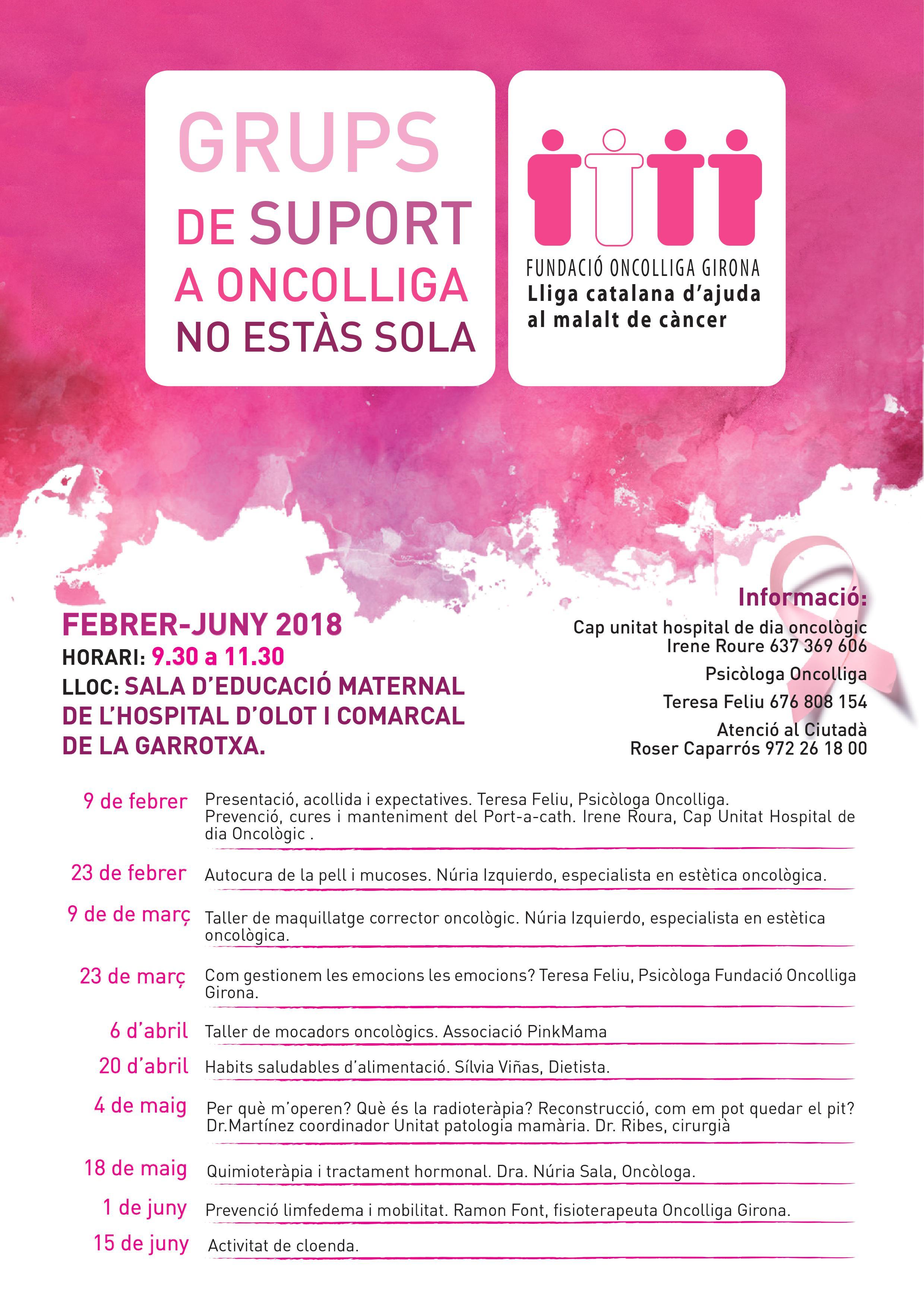 Grup de suport al càncer de mamaGrup de suport al càncer de mama