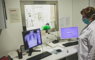 Radiografia d'un pacient amb simptomatologia respiratòria